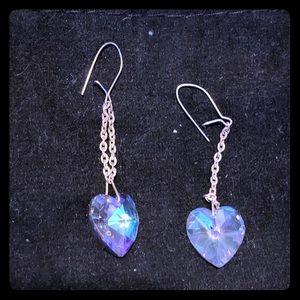 Vintage Crystal 80's Earrings.